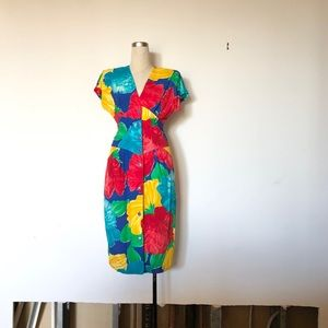 Woodward's Collection - Vintage Floral Midi Dress